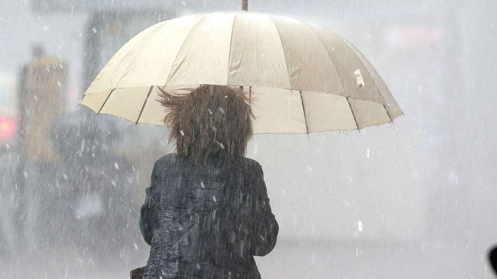 Έκτακτο δελτίο της ΕΜΥ για καταιγίδες, χιονοπτώσεις, σημαντική πτώση της θερμοκρασίας και θυελλώδεις ανέμους