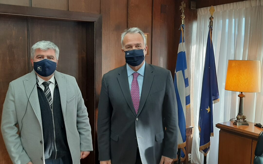 Συνάντηση Δημάρχου Πρέβεζας με τον Υπουργό Εσωτερικών