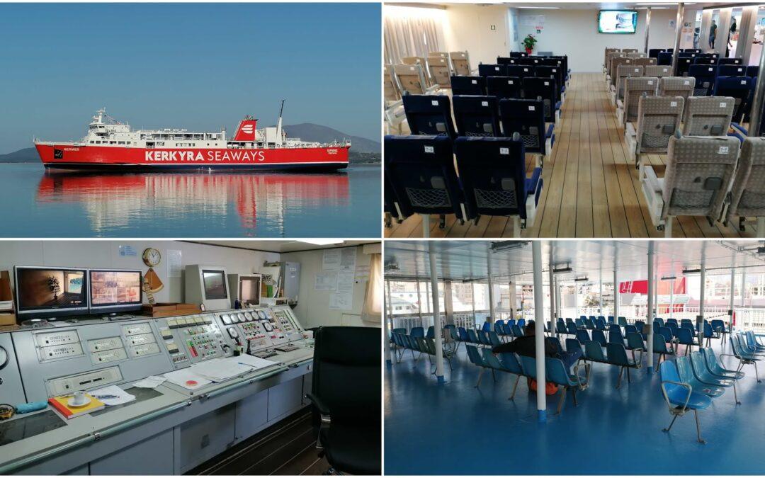 """ΒΙΝΤΕΟ:Παρθενικό ταξίδι για το νέο πλοίο """"ΕΡΜΗΣ"""" στη γραμμή Ηγουμενίτσα – Κέρκυρα"""